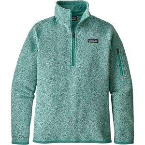 Patagonia Better Sweater 1/4 zip jacket teal XS